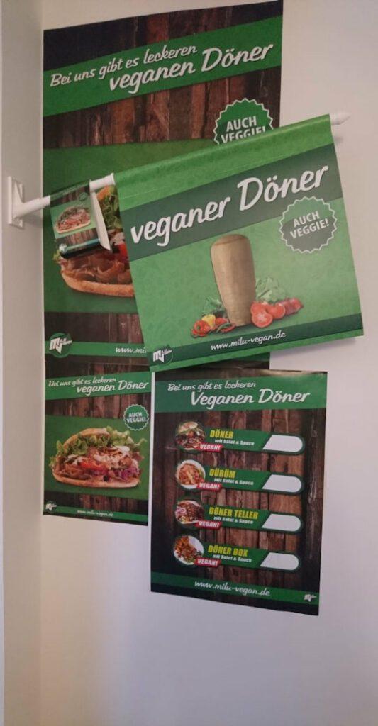 Übersicht werbemittel milu vegan