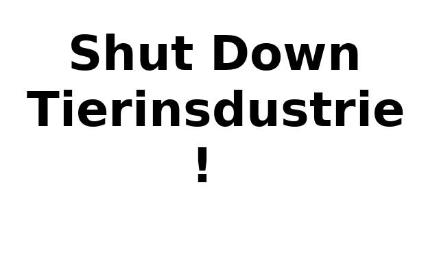 Shut down tierindustrie