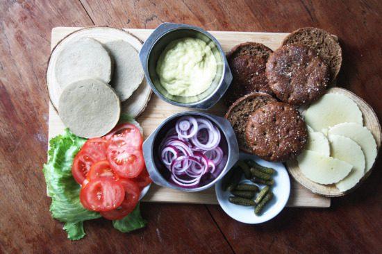 Zutaten Rezept Peaf Burger