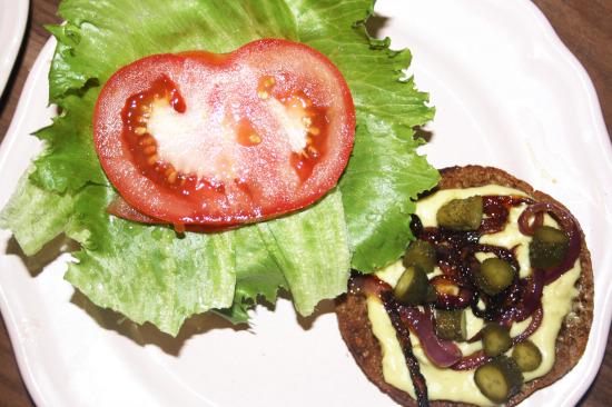 Belag veganer Burger