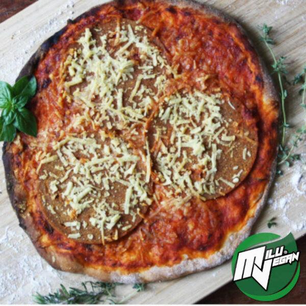 pizza vegan salami