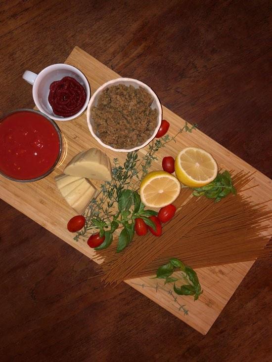 Zutaten für vegane Bolognese