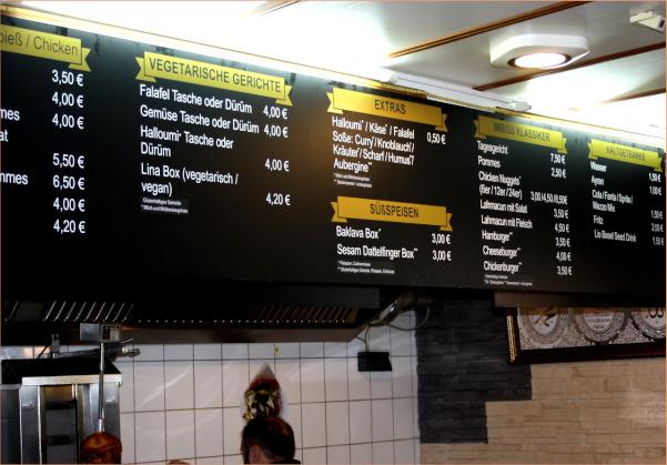 Individuelle Speisekarte erstellt durch den Milu Vegan Kundenservice
