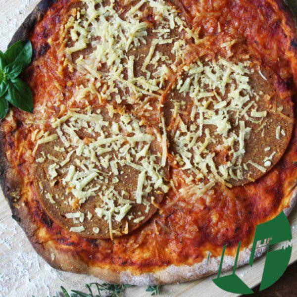 pizza vegan salami Milu Vegan