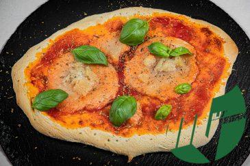Käse vegan geschmolzen Pizza Milu Vegan