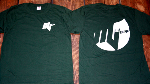 Milu Vegan T-Shirt grün vorderseite rückseite