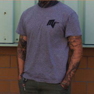 T-Shirt Milu vegan grau logo merch